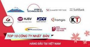 Top 10 công ty IT Nhật Bản hàng đầu tại Việt Nam
