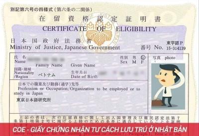 28 loại tư cách lưu trú tại Nhật và những lưu ý khi xin chứng nhận COE