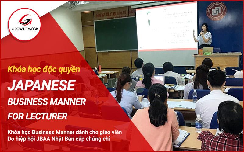 Khóa học Business Manner dành cho giáo viên (Khóa 2: 07/2019)