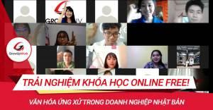 Các bạn sinh viên hứng thú với trải nghiệm khóa học Online