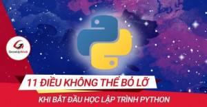 11 điều không thể bỏ lỡ khi bắt đầu học lập trình Python