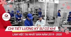Chi tiết lương kỹ sư cơ khí làm việc tại Nhật Bản năm 2019 - 2020