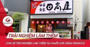 Chia sẻ trải nghiệm làm thêm tại chuỗi cửa hàng Hidakaya