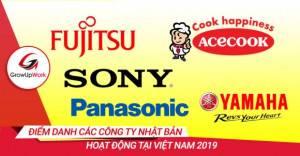 Điểm danh các công ty Nhật Bản hoạt động tại Việt Nam 2019