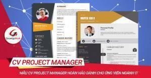 Mẫu CV Project Manager hoàn hảo dành cho ứng viên ngành IT