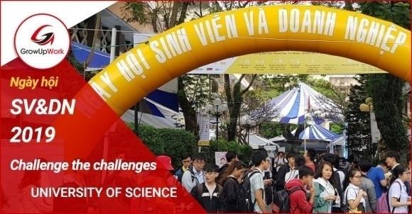 [GrowUpWork] Ngày hội SV&DN Challenge the challenges ĐH Khoa học tự nhiên TP. HCM