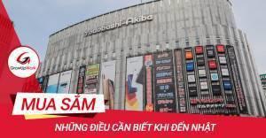 Những điều cần biết khi mua sắm tại Nhật