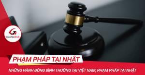 Những hành động bình thường tại Việt Nam, phạm pháp tại Nhật