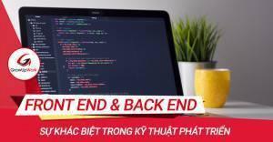 Sự khác biệt giữa phát triển Front-end và Back-end