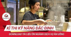Tài liệu ôn tập kì thi kỹ năng đặc định Nhật ngành Dịch vụ ăn uống