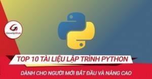 Top 10 tài liệu lập trình Python cơ bản và nâng cao