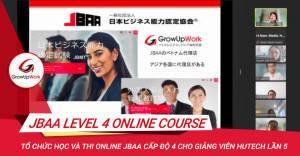 Tập huấn JBBA Level 4 cho giảng viên Đại học Hutech lần 5