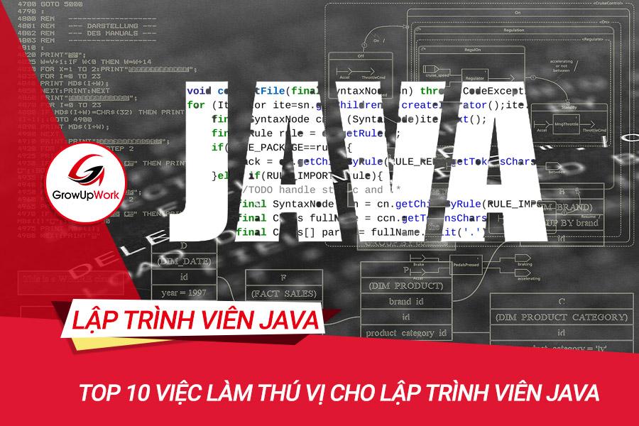 Top 10 Việc làm thú vị cho Lập trình viên Java